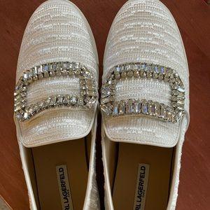 Karl Lagerfeld jeweled slip on sneakers!